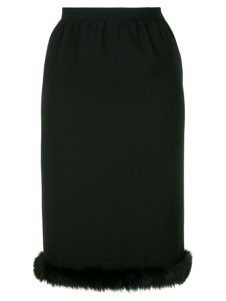 Comme Des Garçons Vintage faux-fur hem skirt - Black