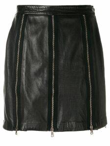 Moschino Pre-Owned zips mini skirt - Black