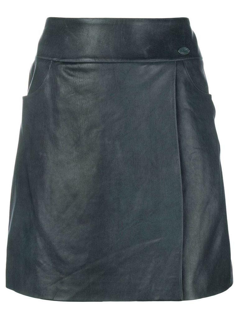 Chanel Vintage a-line short skirt - Blue