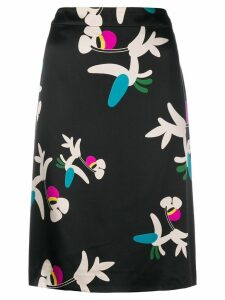 Chanel Pre-Owned printed A-line skirt - Black