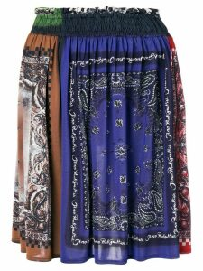 JEAN PAUL GAULTIER PRE-OWNED bandana print gathered skirt - Blue