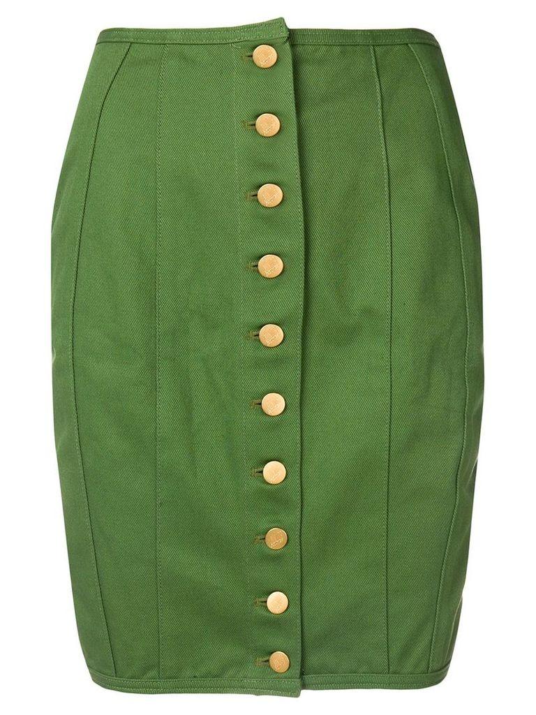 Jean Paul Gaultier Vintage lace-up detailing pencil skirt - Green