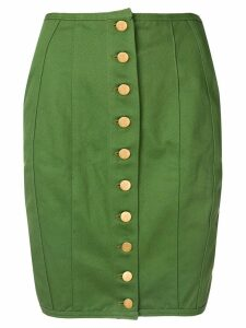 Jean Paul Gaultier Pre-Owned lace-up detailing pencil skirt - Green