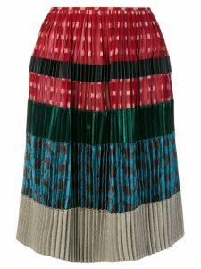 Jean Paul Gaultier Pre-Owned pleated patchwork skirt - Multicolour
