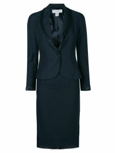 Christian Dior Pre-Owned braided detail skirt suit - Blue