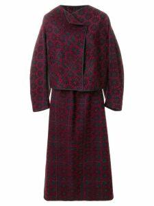 Comme Des Garçons Pre-Owned 1999 brocade skirt suit - Black