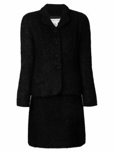 Christian Dior Pre-Owned bouclé skirt suit - Black