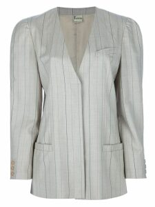Krizia Pre-Owned pin stripe skirt suit - Brown