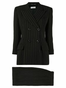DOLCE & GABBANA PRE-OWNED pinstripe skirt suit - Brown