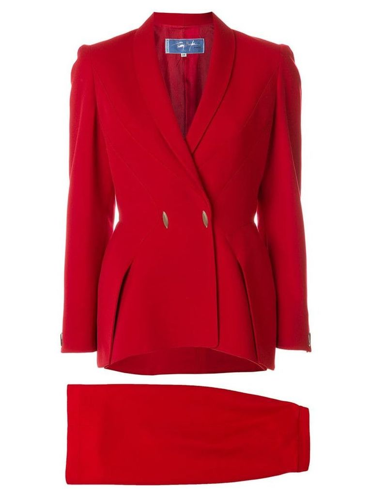 Thierry Mugler Vintage skirt suit - Red