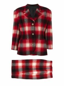 Jean Paul Gaultier Pre-Owned checked skirt suit - Red