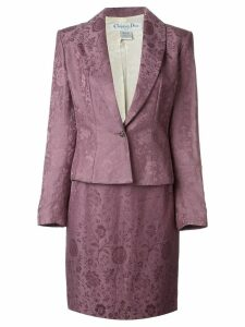 Christian Dior Pre-Owned floral jacquard skirt suit - Pink