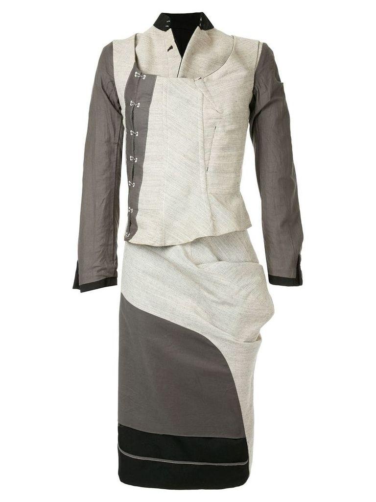 Comme Des Garçons Vintage layered skirt suit - Black