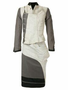 Comme Des Garçons Pre-Owned layered skirt suit - Black