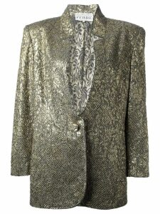Gianfranco Ferre Pre-Owned jacquard jacket and skirt suit - Metallic