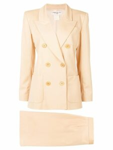 Yves Saint Laurent Pre-Owned double-breasted skirt suit - Yellow