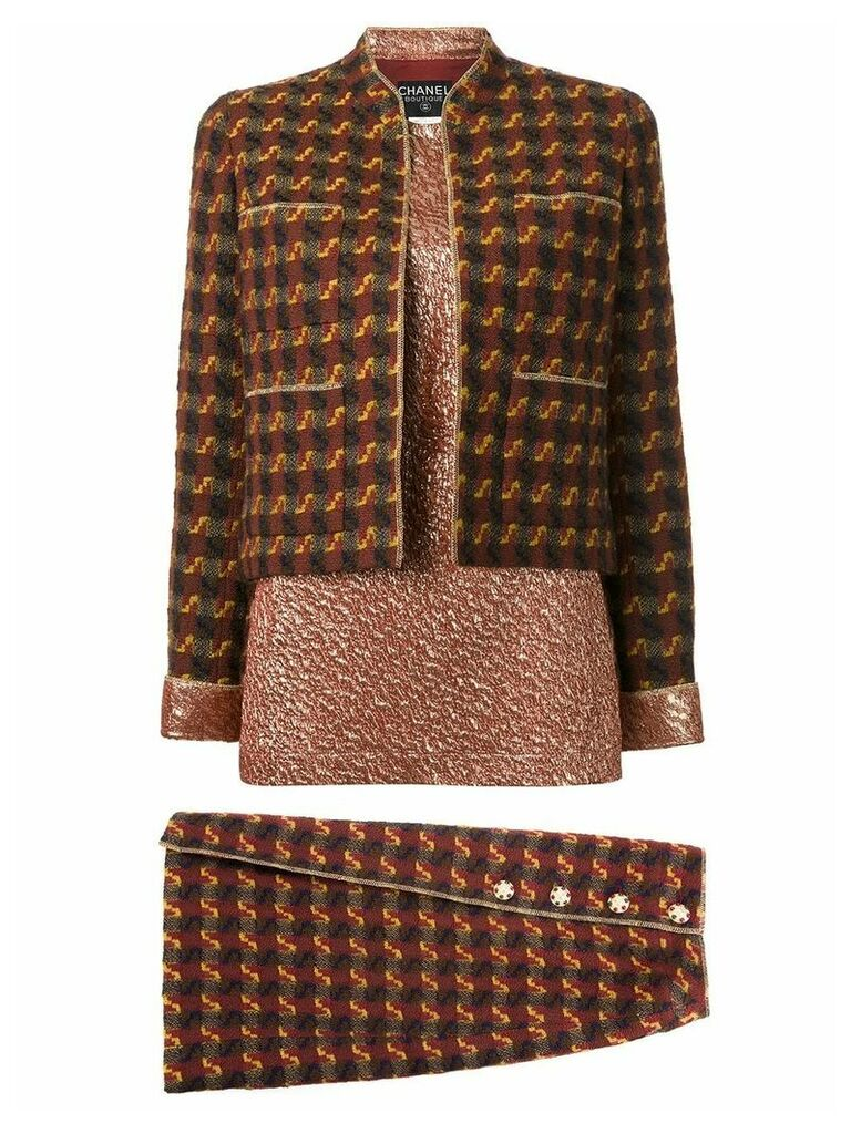 Chanel Vintage three piece skirt suit - Red