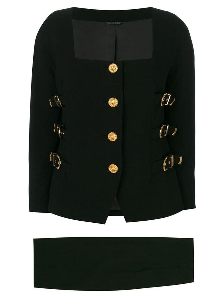 Versace Vintage Bondage skirt suit - Black