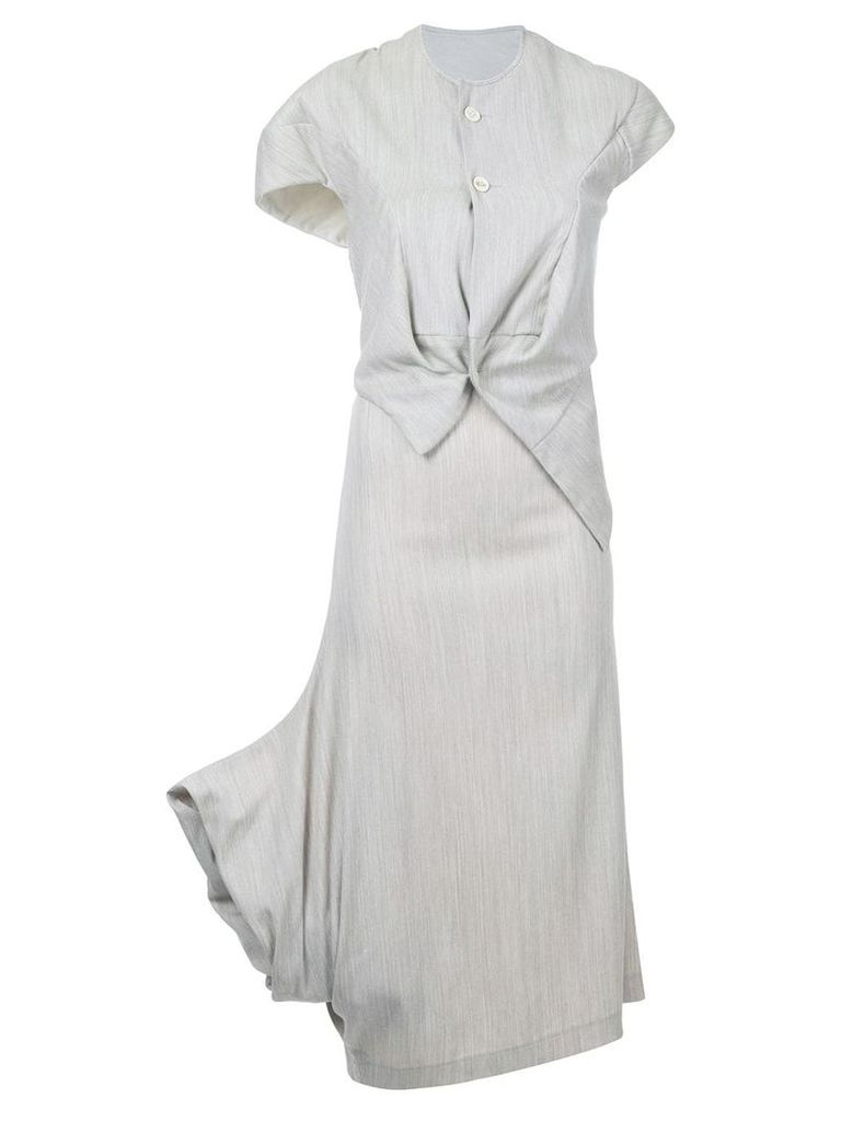 Comme Des Garçons Vintage asymmetric top and skirt - Grey