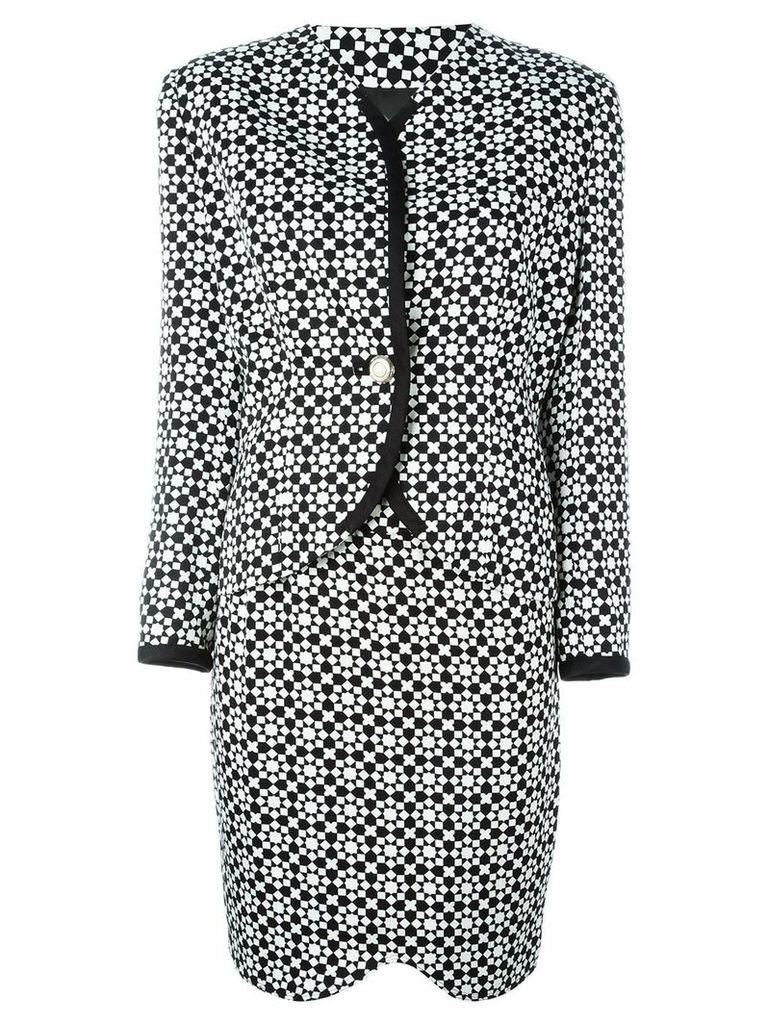 Versace Vintage mosaic print skirt suit - Black