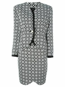 Versace Pre-Owned mosaic print skirt suit - Black
