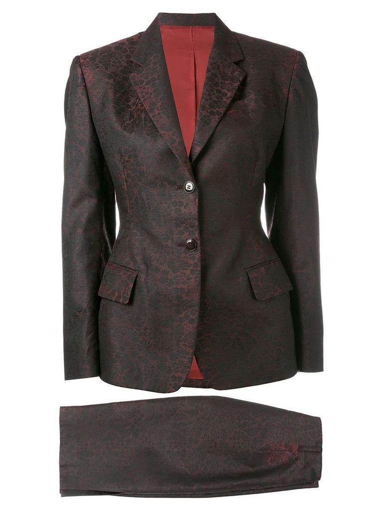 Jean Paul Gaultier Vintage jacquard skirt suit - Red