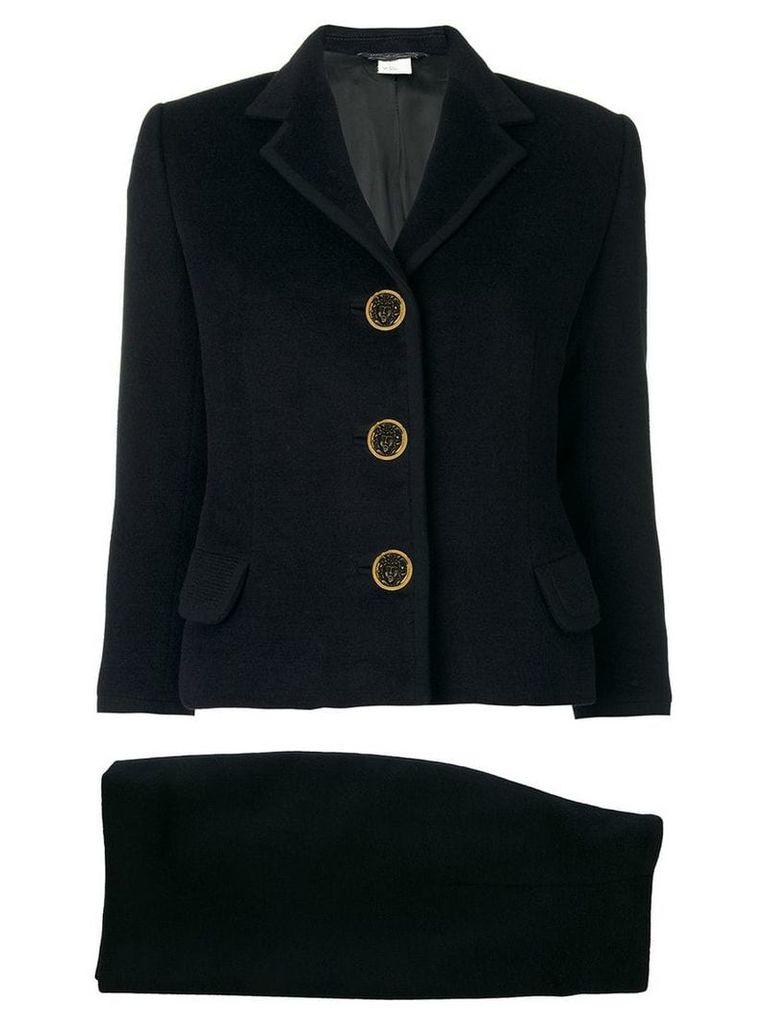 Versace Vintage classic skirt suit - Black
