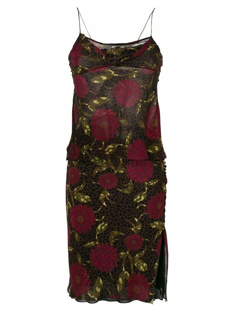 John Galliano Vintage floral bias skirt & top - Multicolour