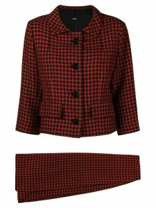 BALENCIAGA PRE-OWNED 1960 houndstooth skirt suit - Red