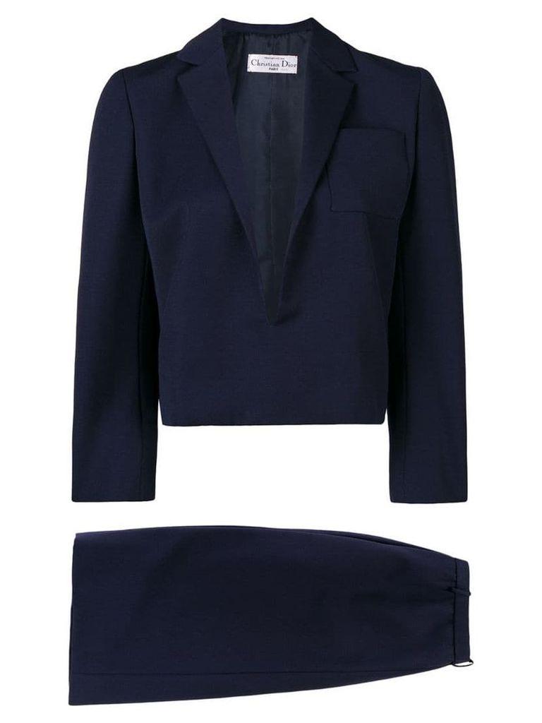Christian Dior Vintage 1984 straight skirt suit - Blue