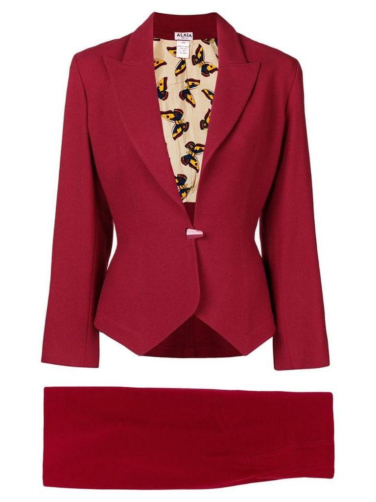 Alaïa Vintage 1992 skirt suit - Red