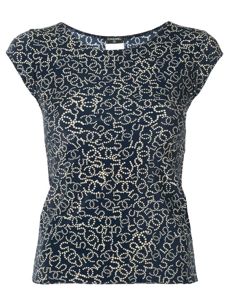 Chanel Vintage CC N. 5 pattern blouse - Blue