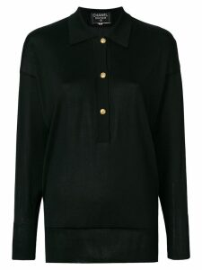 Chanel Pre-Owned long sleeved knitted blouse - Black