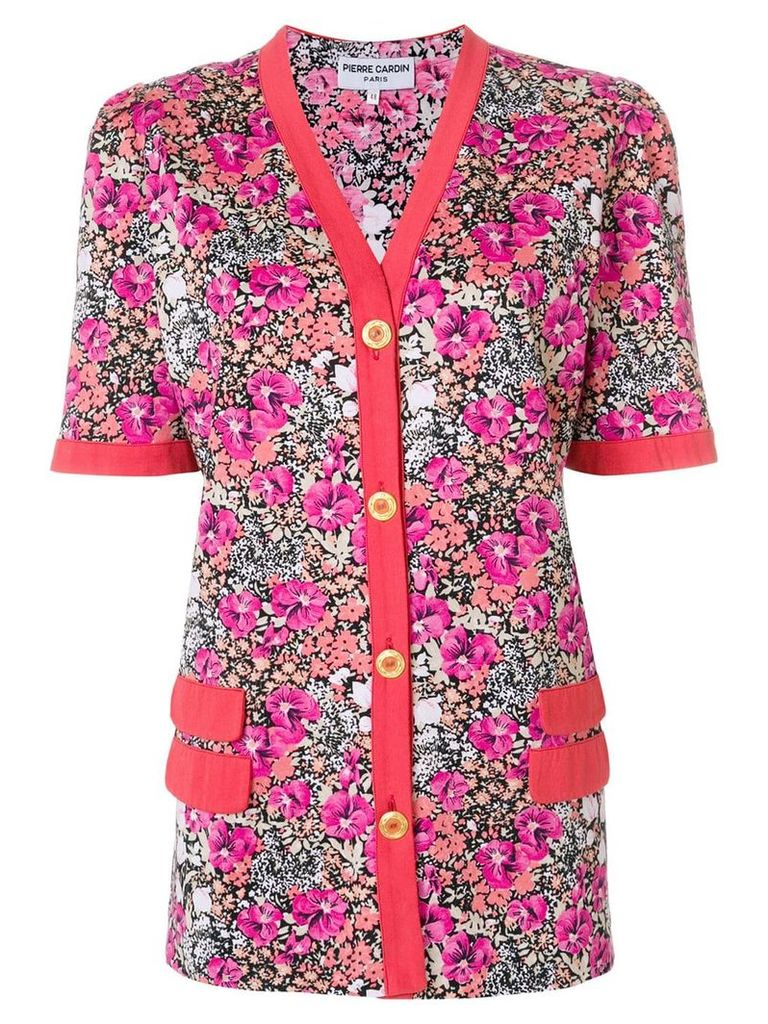 Pierre Cardin Vintage floral buttoned blouse - Multicolour