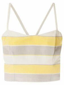 Giorgio Armani Pre-Owned cropped striped top - Multicolour