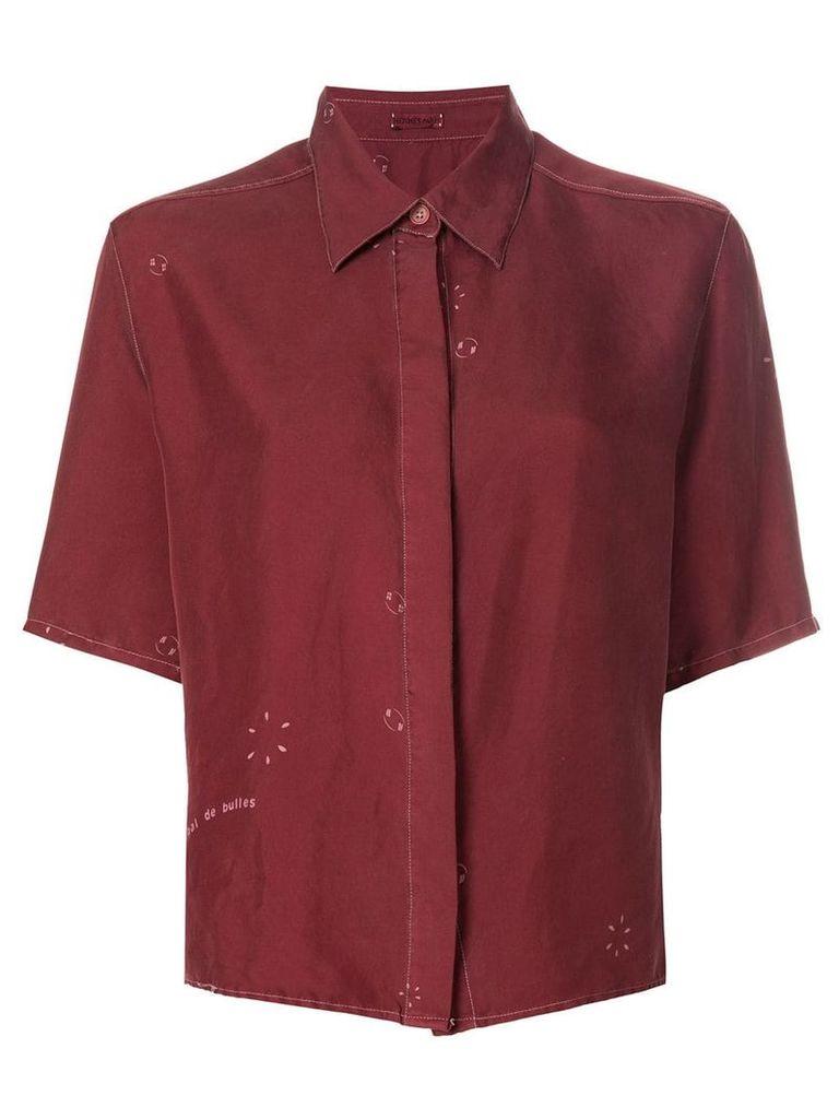Hermès Vintage shortsleeved shirt - Red