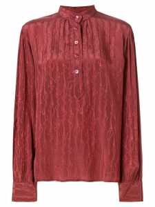 Gucci Pre-Owned mandarin collar embroidered shirt - Pink