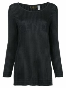 Fendi Pre-Owned logo knit top - Blue