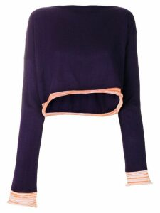 Comme Des Garçons Pre-Owned 1991 asymmetric knitted blouse - Purple