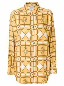 JC DE CASTELBAJAC PRE-OWNED mouse print shirt - Brown
