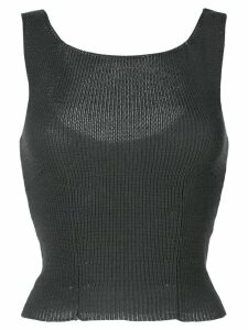 Comme Des Garçons Pre-Owned 1997 cropped knitted tank - Grey