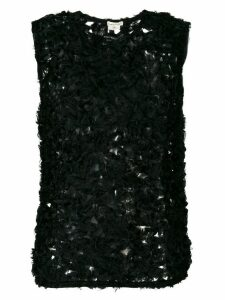 Comme Des Garçons Pre-Owned sheer knitted blouse - Black