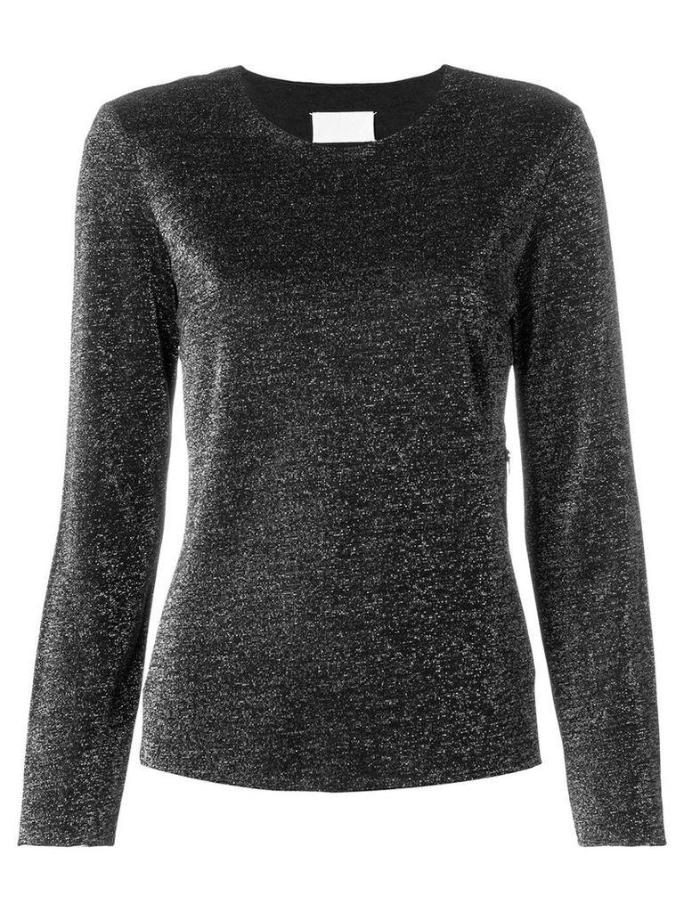 Maison Martin Margiela Vintage longsleeved lurex blouse - Black