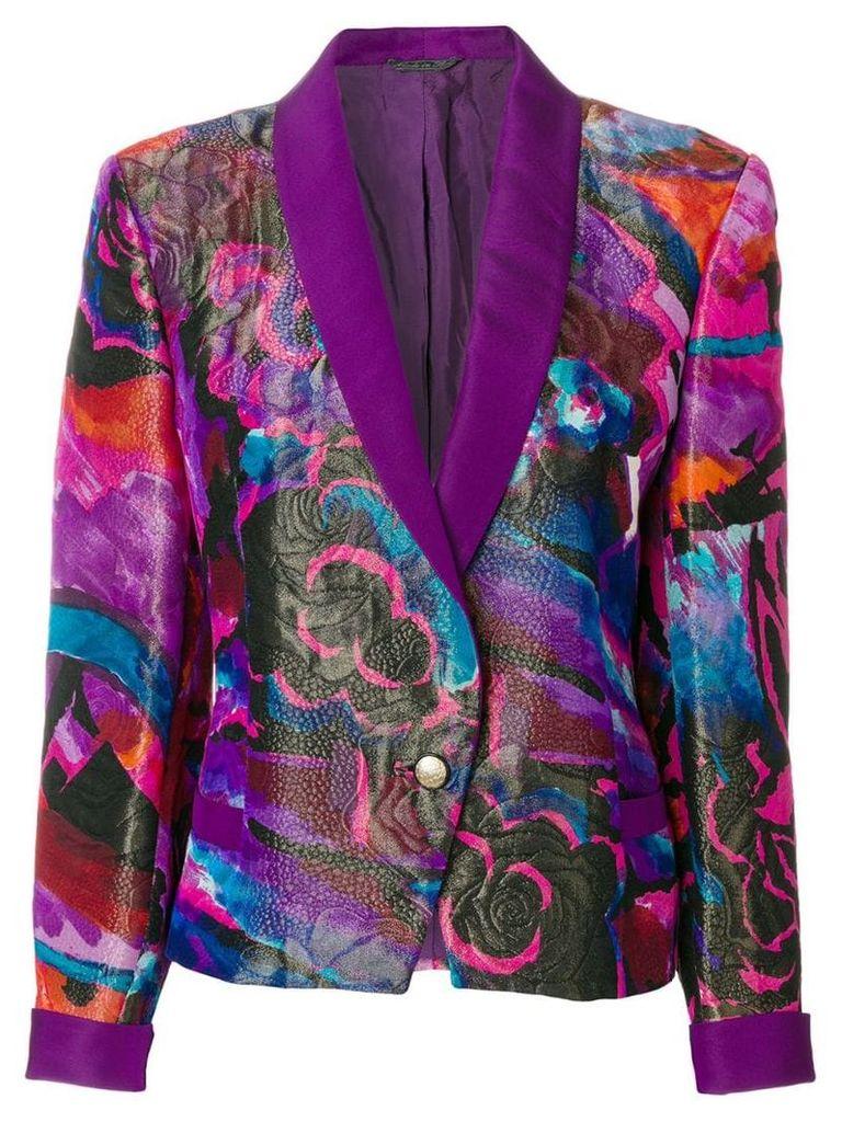 Versace Vintage rose print jacket - Pink