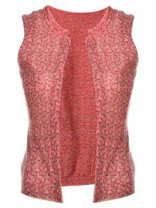 Comme Des Garçons Pre-Owned floral pattern waistcoat - Pink