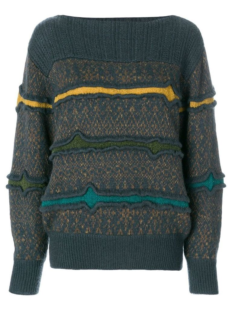 Issey Miyake Vintage knitted sweater - Multicolour