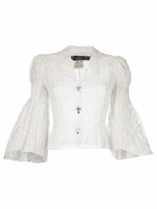John Galliano Pre-Owned English embroidery blouse - White