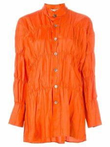 ISSEY MIYAKE PRE-OWNED crushed shirt - Yellow