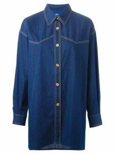 Guy Laroche Pre-Owned denim shirt - Blue