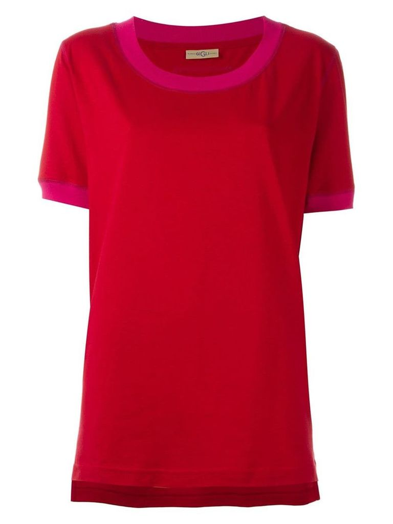 Romeo Gigli Vintage scoop neck T-shirt - Red